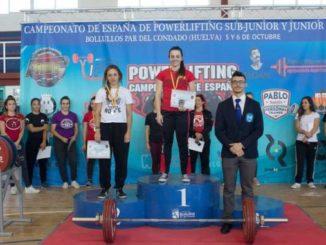 Esther Gutierrez – Campeona de España de Powerlifting Junior -57 kg